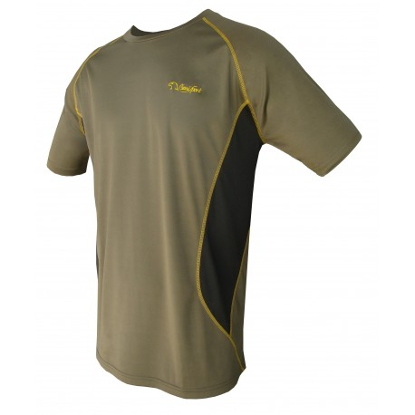 CAMISETA TECHNICAL Kaqui/Amarilla  - Talla 2XL
